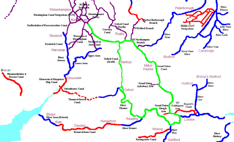 London Ring Canal Map